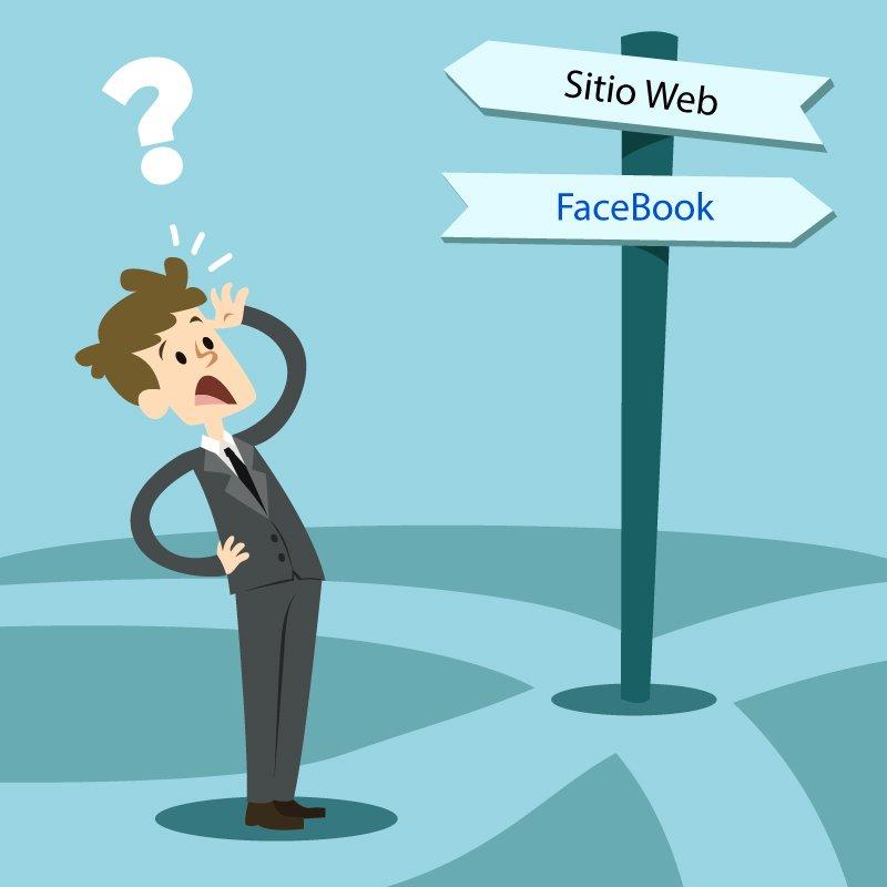 Diferencia entre Facebook y una página web